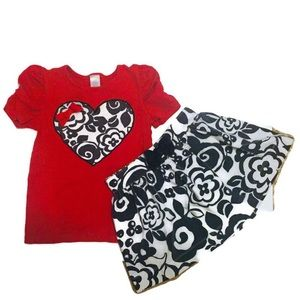 Gymboree Hearts and Flowers Girls Matching Set